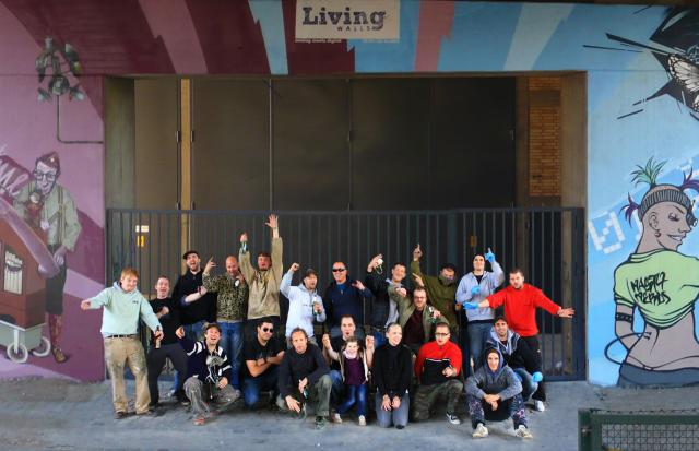 Gruppenfoto vom Projekt Living Walls