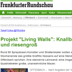 Living Walls in der Frankfurter Rundschau Online